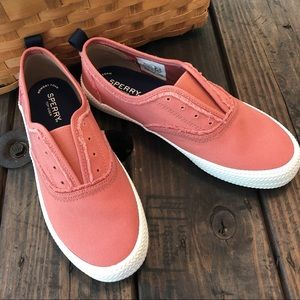 Sperry Top Slider Slip On Shoes W/Frayed Edges